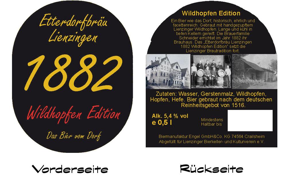 Etikett des neuen Etterdorfbräu