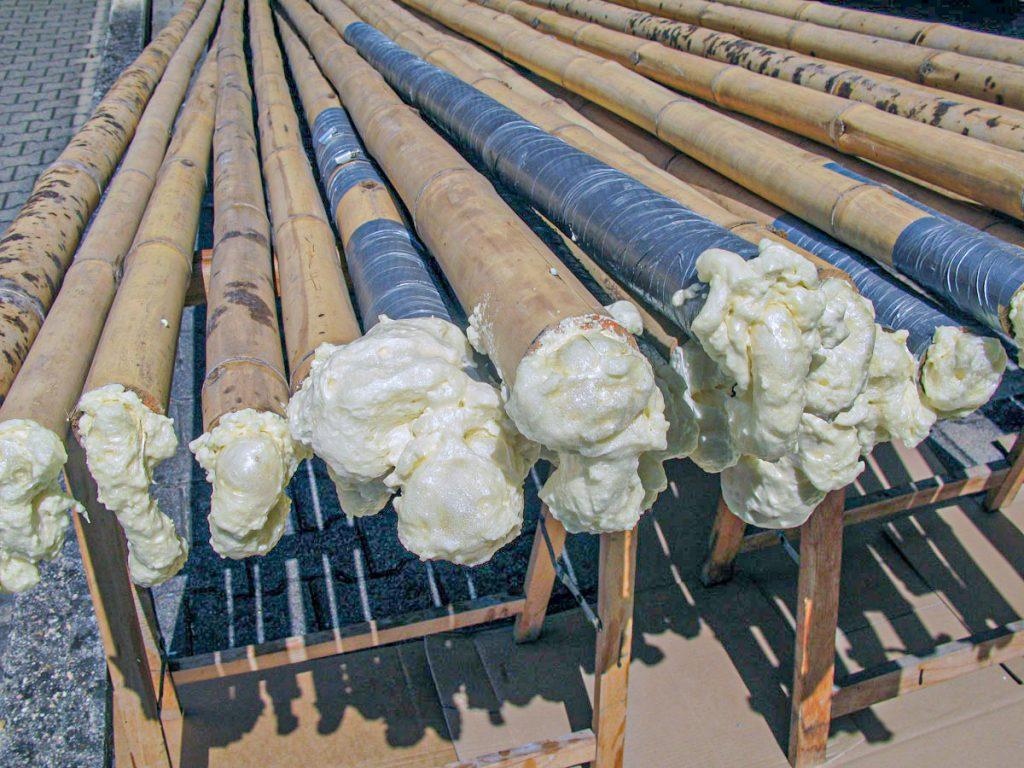 Vorbereitung der Bambusstangen