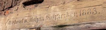 Inschrift am Bierkeller